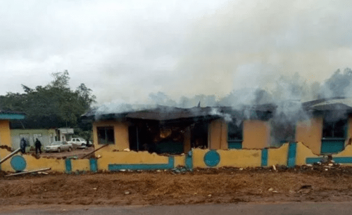 Officers Beaten, Detainees Freed As Thugs Burn Down Police Station In Anambra