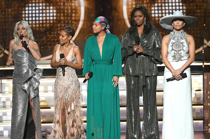 Grammy: Michelle Obama, Diana Ross, others lead female solidarity at ceremony