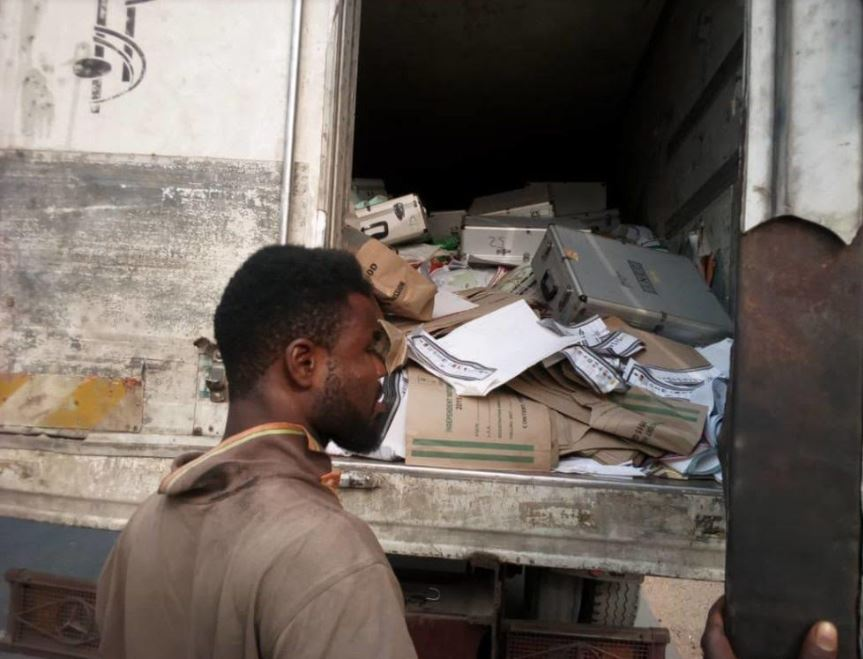 Police Impounds Vehicle Conveying Electoral Materials In Taraba