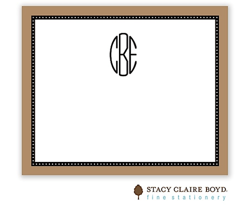 Brown Dot Swiss Border Calling Card Stacy Claire Boyd
