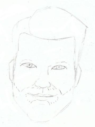 Adjusted eye shape; added beard