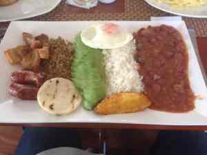 A typical Colombia dish
