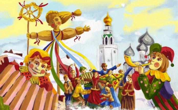 Картинки по запросу русские народные праздники рисунок