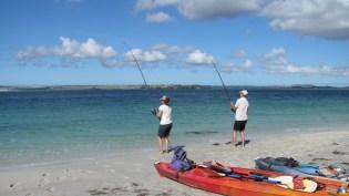 am fischen