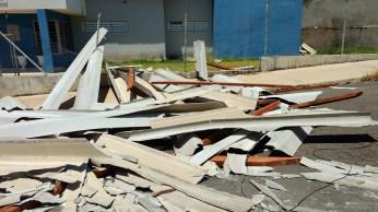 Posto de Saúde bairro Bela Vista - Telhado destruído
