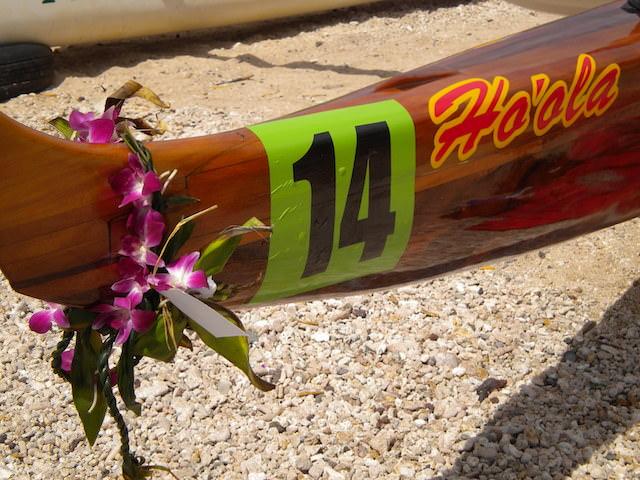 photo of the Ho'ola koa canoe