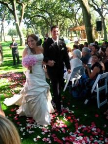 At Debbie & Jason's wedding in Napa.