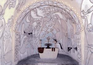 Interior of Cocteau Chapel in Villefranche http://www.parisrivedroiterivegauche.com/wp-content/uploads/2014/05/800px- Chapelle_saint_pierre_villefranche_sur_mer_lightbox.jpg