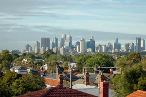 Melbourne property skyline
