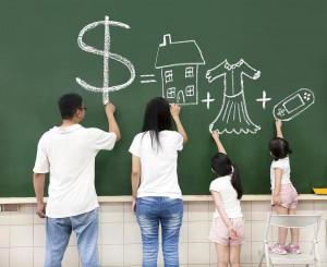 child children money learn teach rich poor lesson family budget