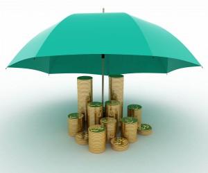 protect umbrella portfolio saving money coin insurance rainy day