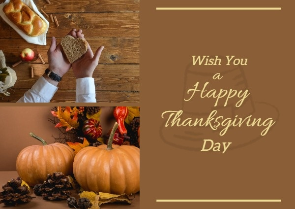 Thanksgiving Day Wishes Postcard Maker – Design Personalized Postcards  Online For Free | Fotor