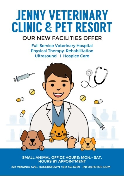 online veterinary clinic poster