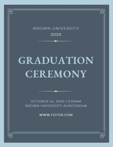 online graduation ceremony program