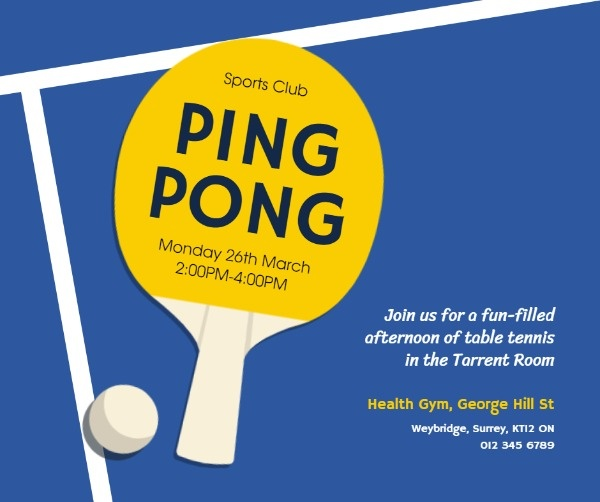 online ping pong club event facebook