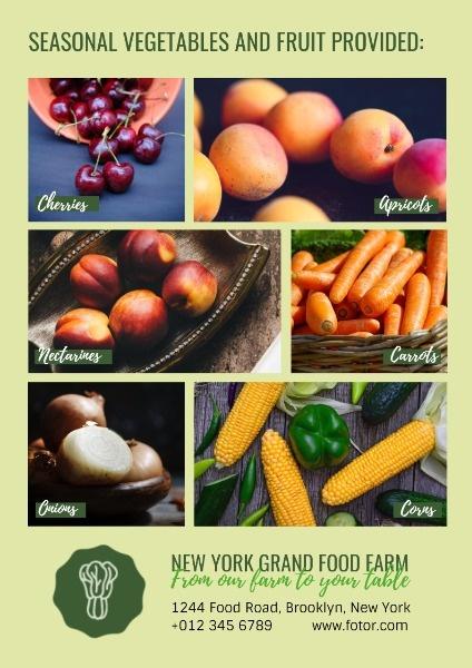 online farm vegetable promotion poster