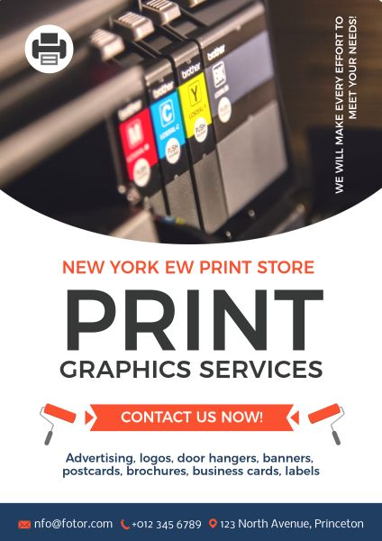 online white printing service poster