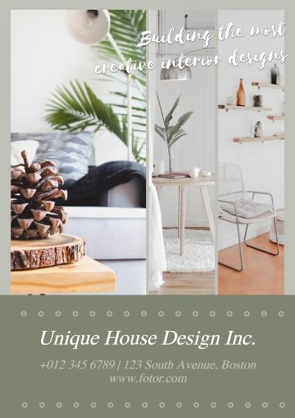 online interior design poster template