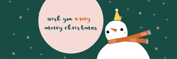 snowman christmas email header