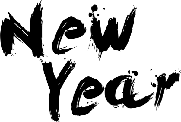 Free Online Happy New Year Text Vector For Design_sticker
