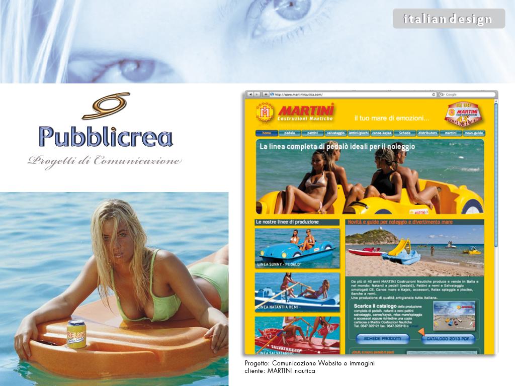 Sito Web Martini Costruzioni Nautiche edizioni 2003-2015