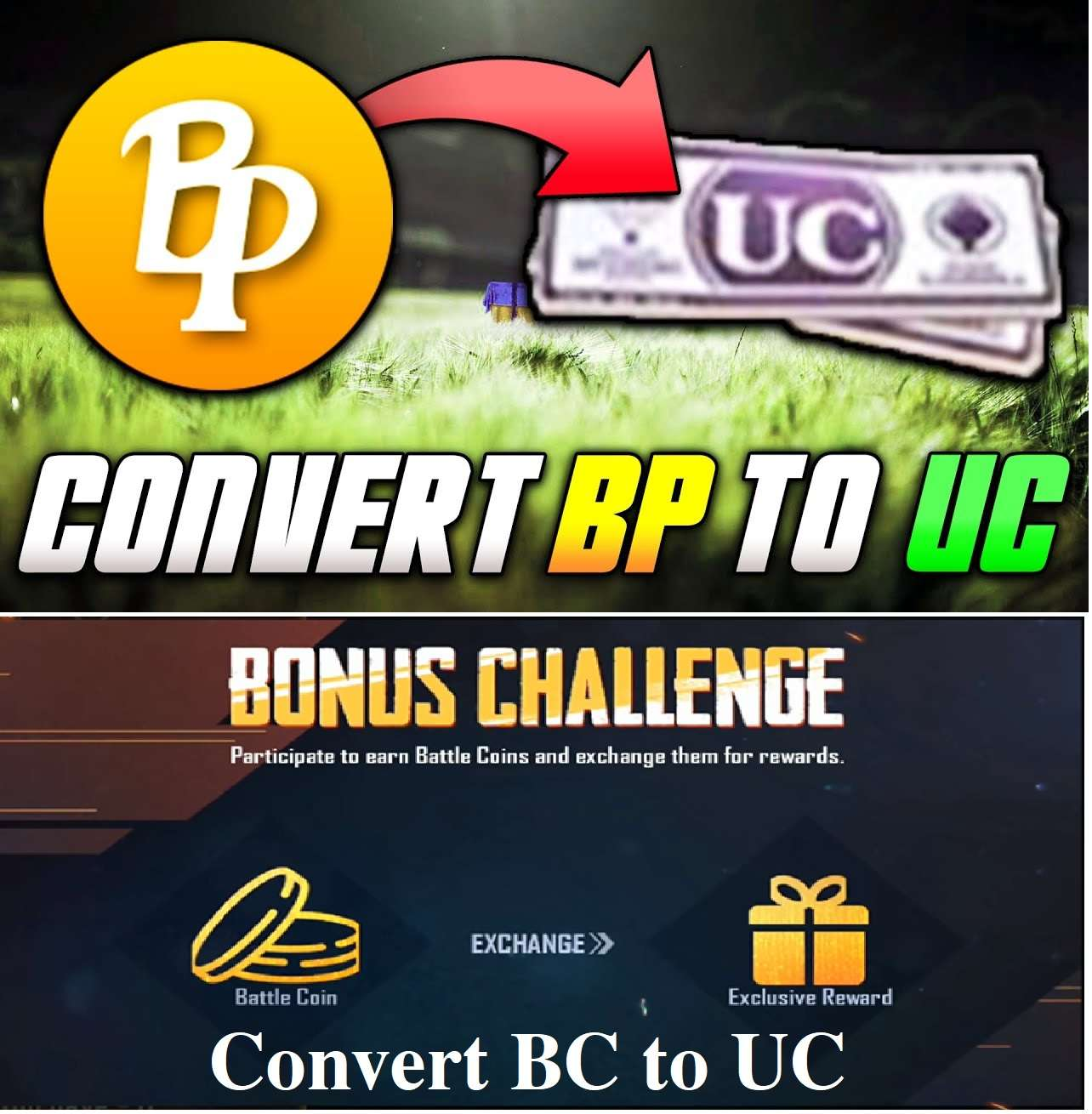 Now The Bonus Challenge Lets You Convert Bp To Uc Or Bc To Uc In - now!    the bonus challenge lets you convert bp to uc or bc to uc in pubg mobi!   le lets see how