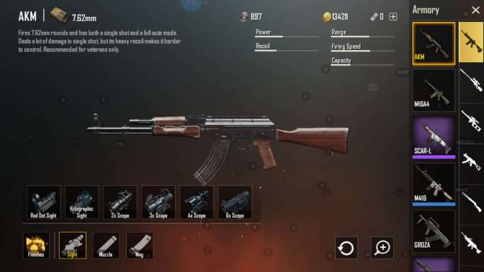 Best Guns And Attachments In Pubg Mobile - Pubg Freezing