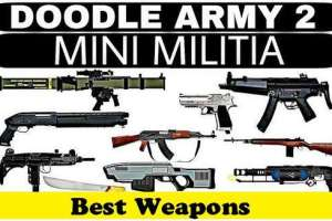 Weapons in Mini Militia