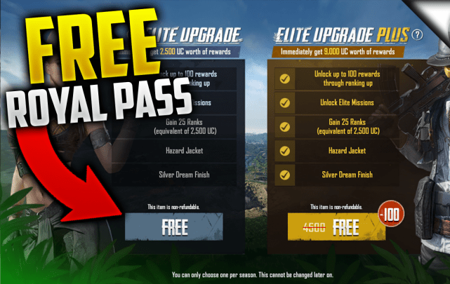 How To Get Elite And Elite Plus Pass For Free In PUBG Mobile [100