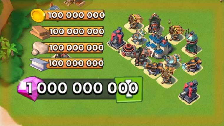 Boom Beach Mod APK Unlimited Diamonds and Money