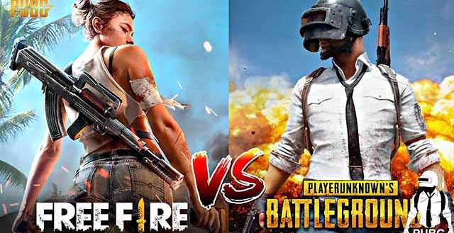 Pubg Mobile vs Free Fire users in india which is best in world