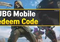 PUBG Mobile Redeem Codes Today