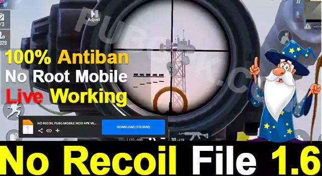 No Recoil File 1.6 Download APK Config File PUBG Mobile