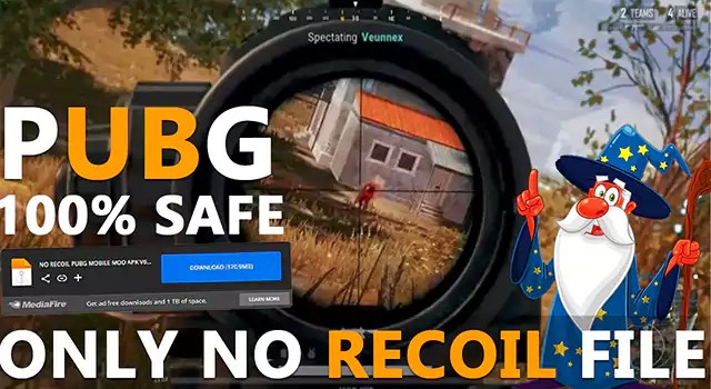 PUBG 1.6 Only No Recoil File Download MediaFire Link ESP