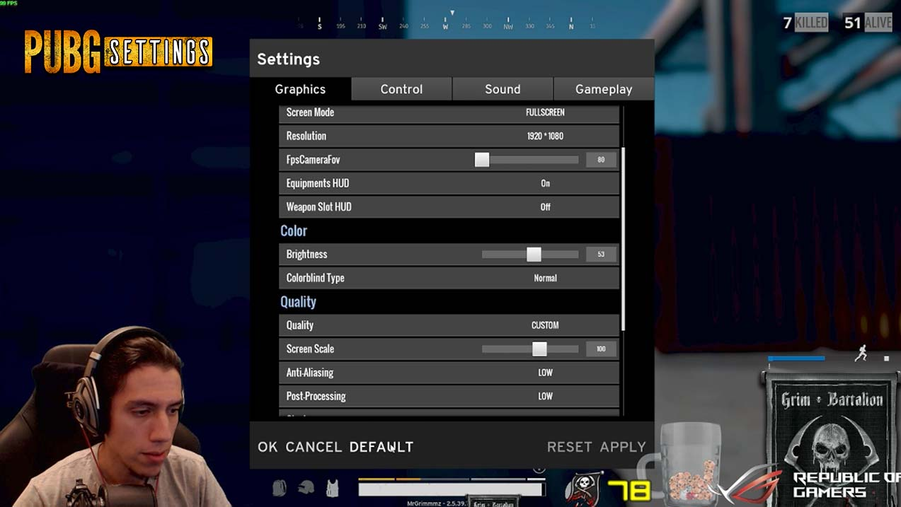 Grimmmz PUBG Settings And Setup Including DPI And