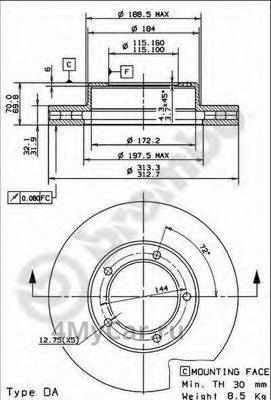 Купить 4351260171 TOYOTA 43512-60171 Тормозной диск и аналоги