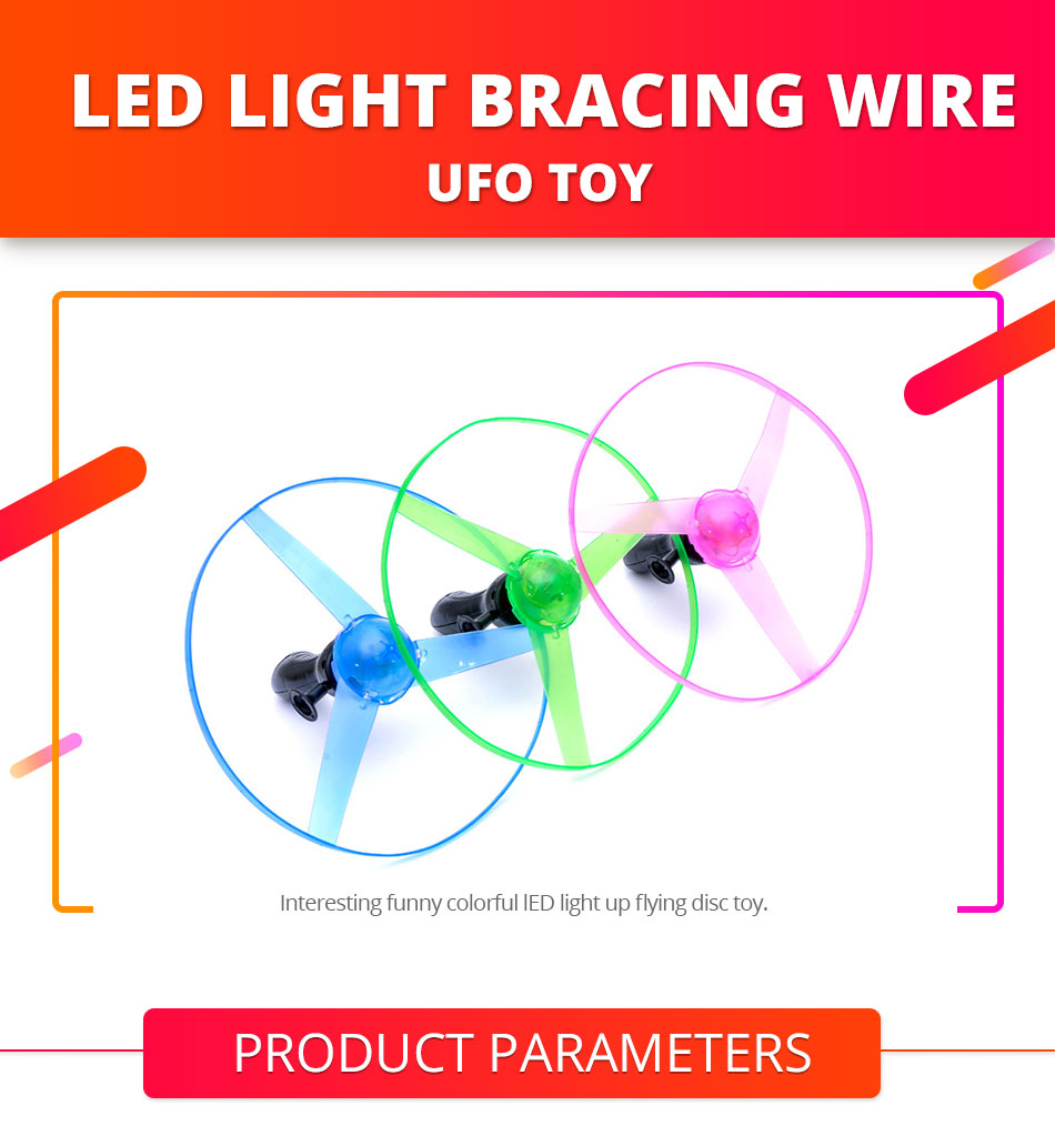 medium resolution of pull string colorful led light up frisbee flying saucer disc colorful funny toy kids