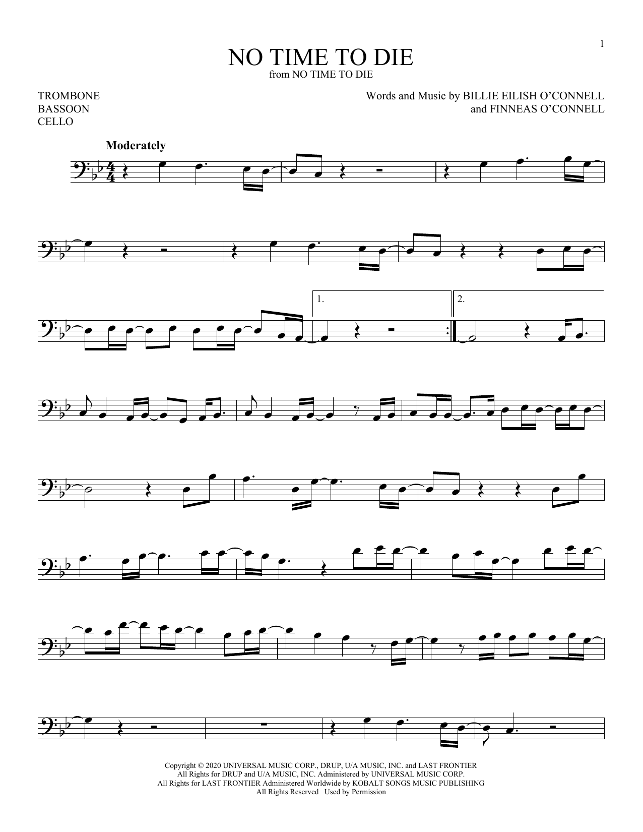 No Time To Sheet Music By Billie Eilish For Choral