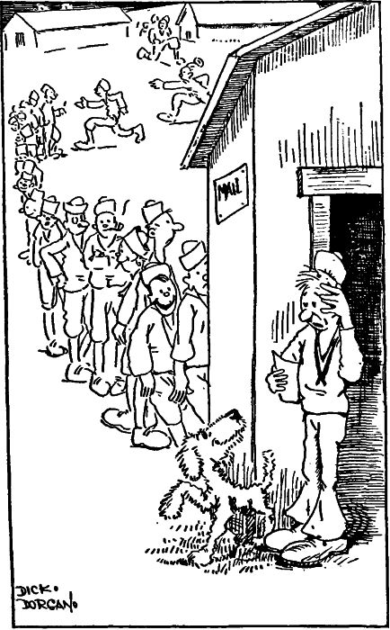 Public Domain images cartoon mail call bad news from home