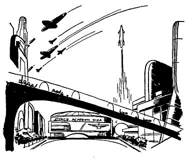 Public Domain images 03 scifi future city urban traffic
