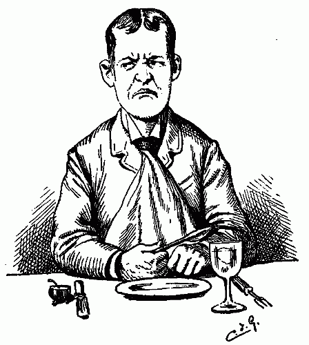 Public Domain images hungry angry unhappy man waiting for