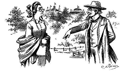 Public Domain images old man and woman chatting at fairgrounds