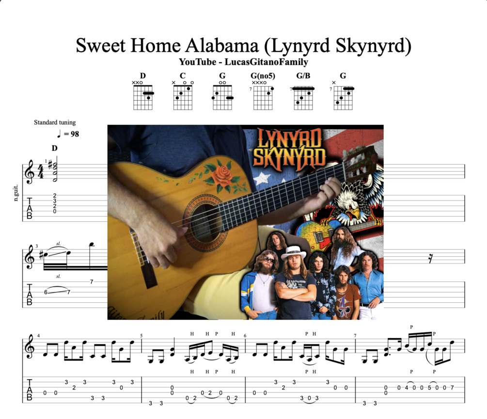The other guitars are missing but you can play without that. Sweet Home Alabama Lynyrd Skynyrd
