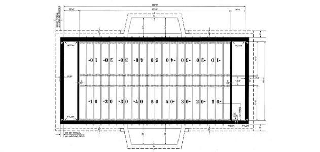 pro nfl football field yards m size nfl football field diagram