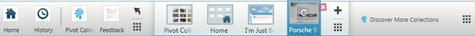 Microsoft Live Labs Pivot Bottom bar tabs collection