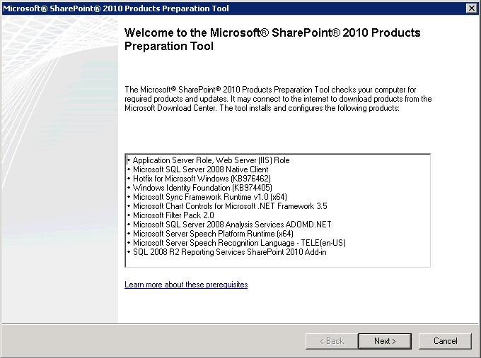 Instalação automática dos pré-requisitos do SharePoint 2010 (2/3)