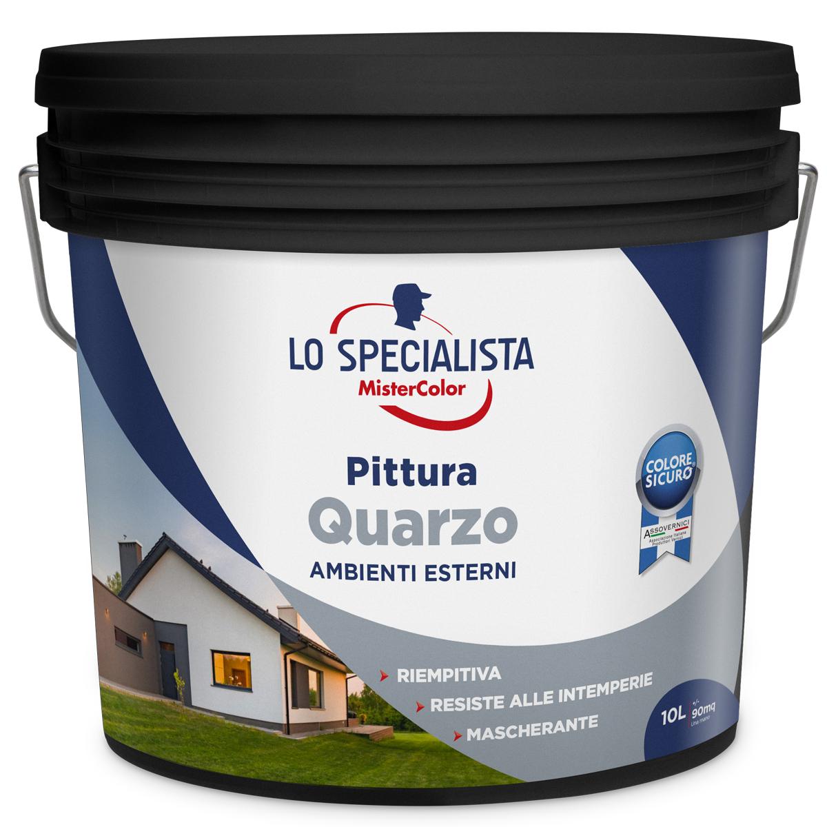 pittura lavabile acrilica bianca interni esterni. Pittura Al Quarzo Bianca Lt 10 195128l010001 Lo Specialista Scaramuzzamodo It
