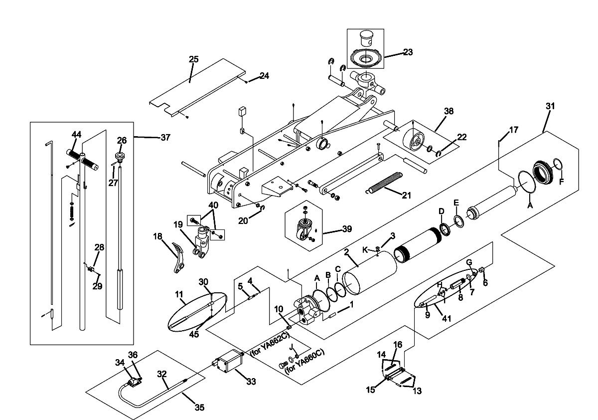 Walker 4 Ton Floor Jack Parts Diagram