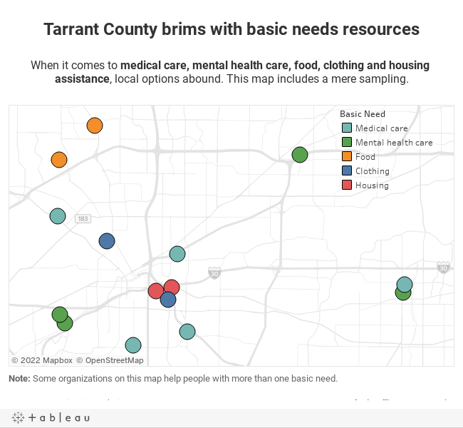 Tarrant County brims with basic needs resources