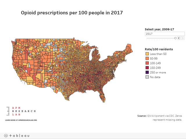 The U S Opioid Epidemic Council On Foreign Relations >> The Opioid Epidemic In 5 Charts Marketplace